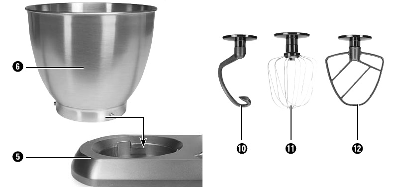سریها و کاسه همزن در ماشین آشپزخانه حرفه ای سیلورکرست SilverCrest