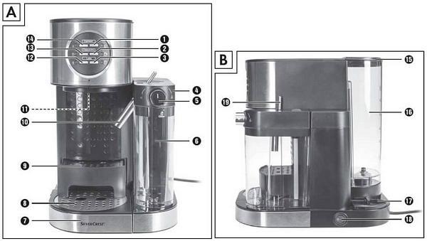 اجزاء اسپرسوساز سه کاره سیلورکرست آلمان