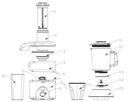 قسمتهای اصلی آبمیوه گیری و مخلوط کن فکیر fakir